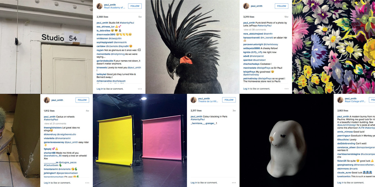 Screenshot of Paul Smith's Instagram feed