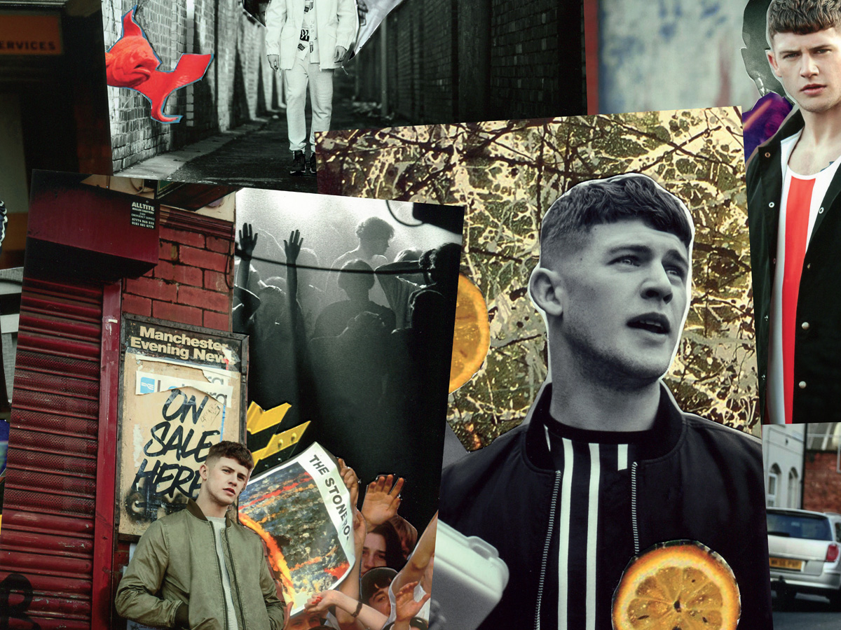 Topman photo collage referencing 90s Manchester music scene