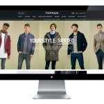 Screenshot of Topman website showing five different models