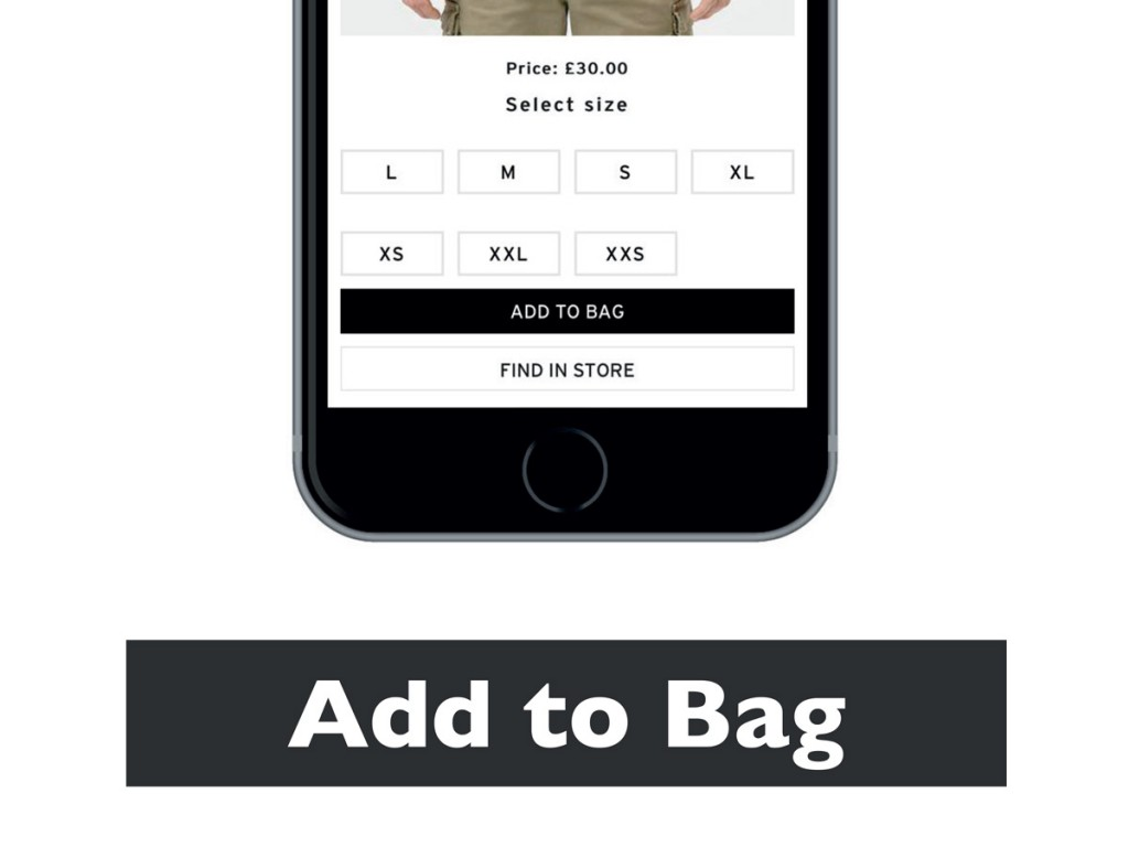 Shot of mobile phone with Topman website