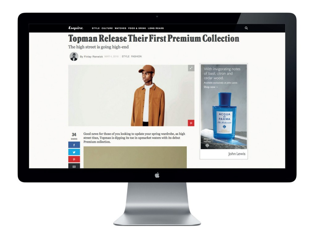 Screenshot of Topman website
