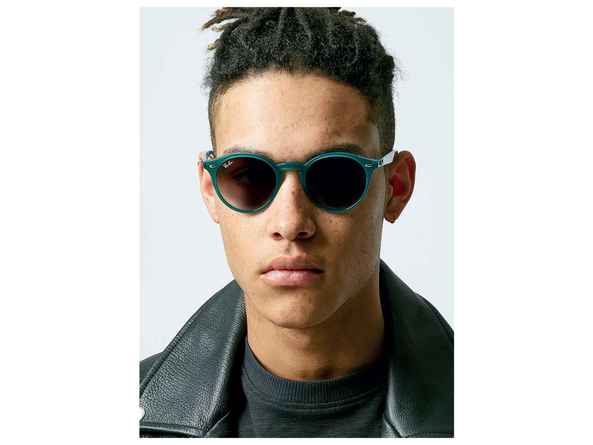 Photo of model wearing Topman sunglasses