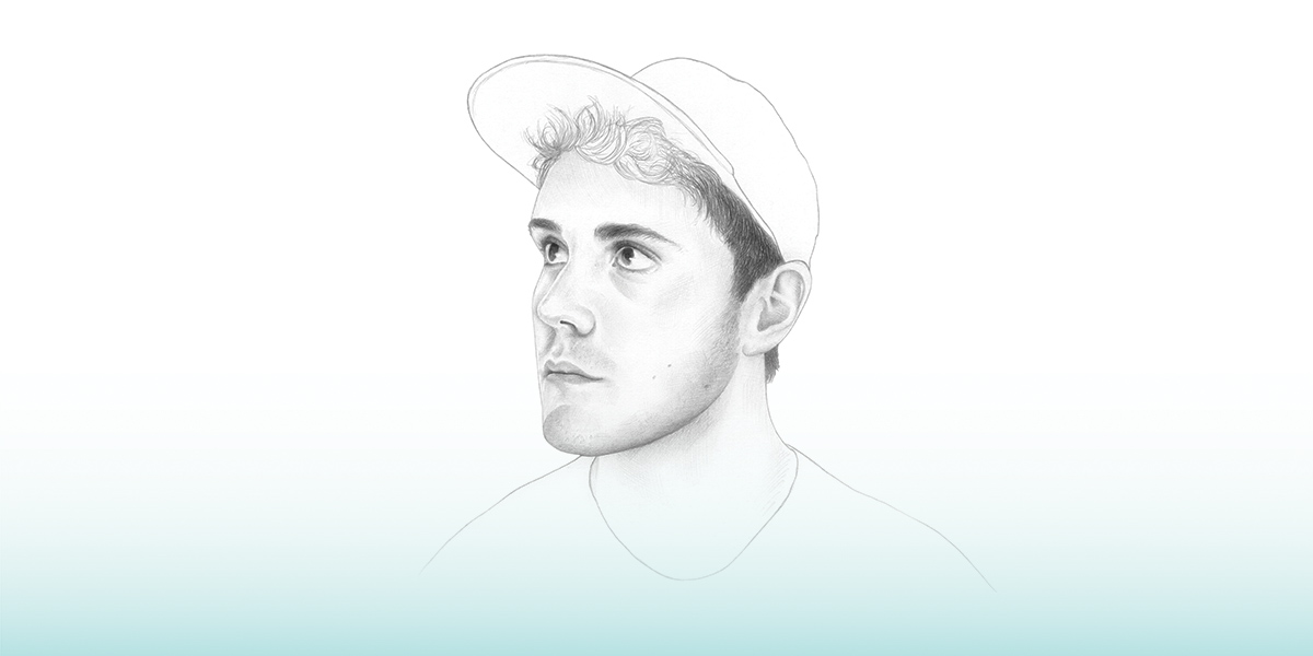 An illustration of youtuber Alfie Deyes by Denise Nestor