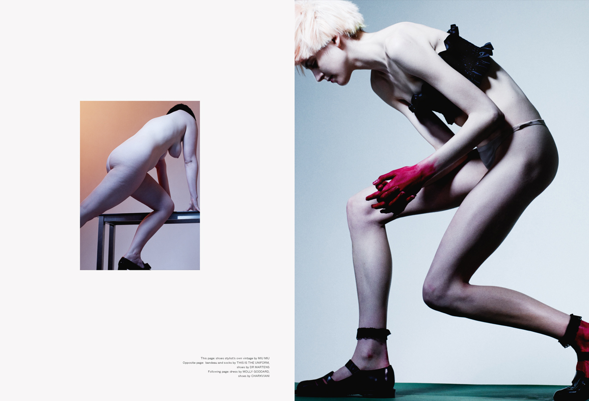 Spread from Beauty Papers, Issue 0