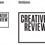 Boxed version of the Creative Review wordmark