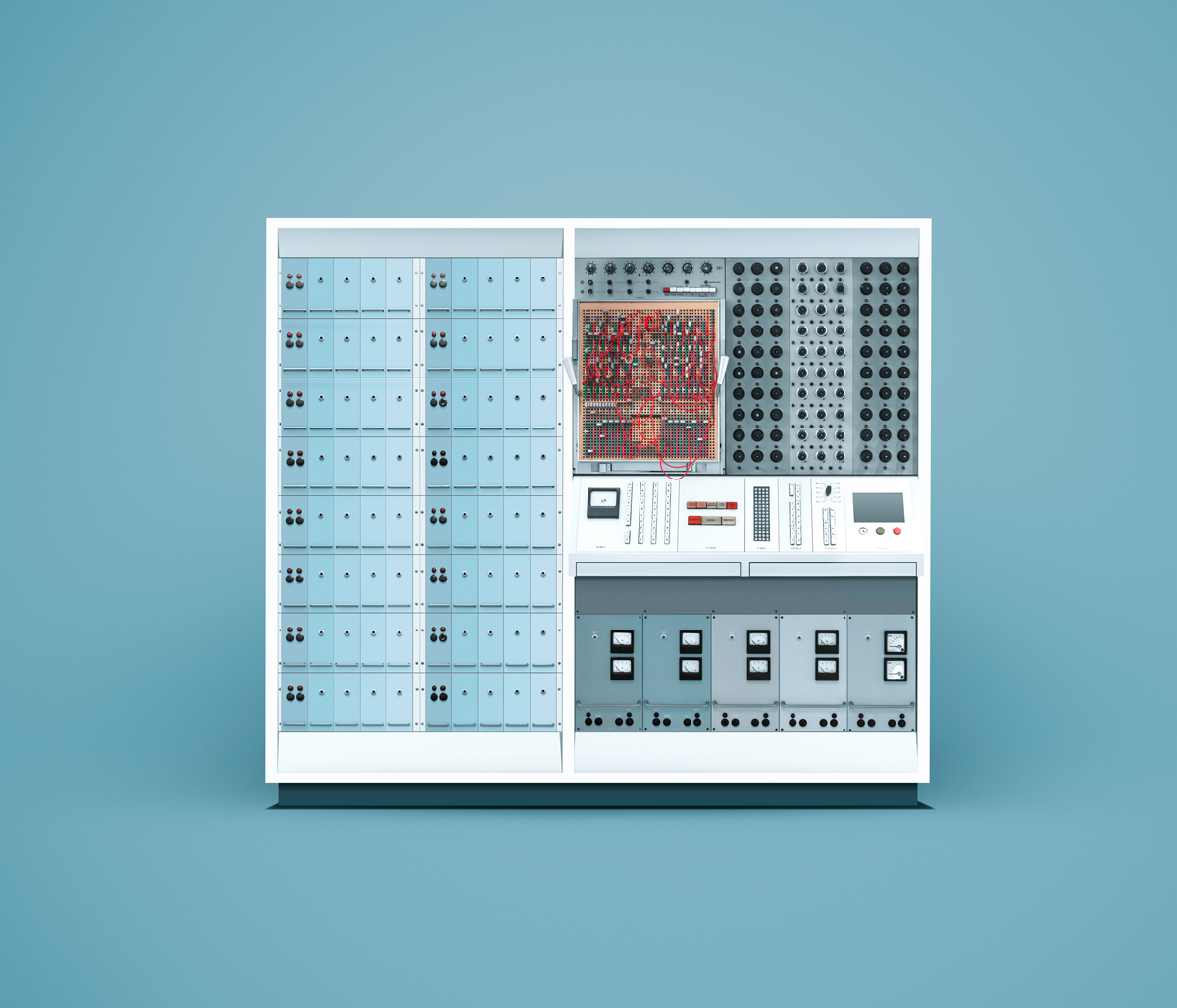 The ENDIM 2000 analog computer, a tube-based design developed and manufactured in the former German Democratic Republic