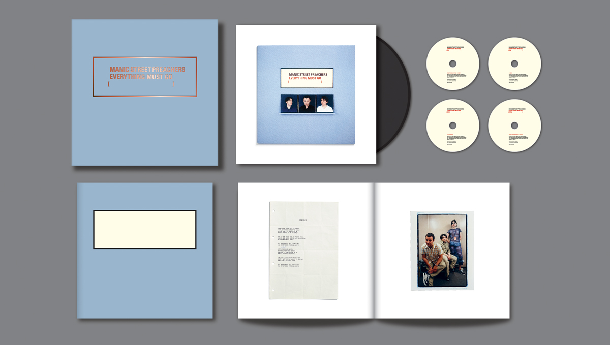 Manic Street Preachers, Everything Must Go 20th Anniversary box set, designed by Farrow