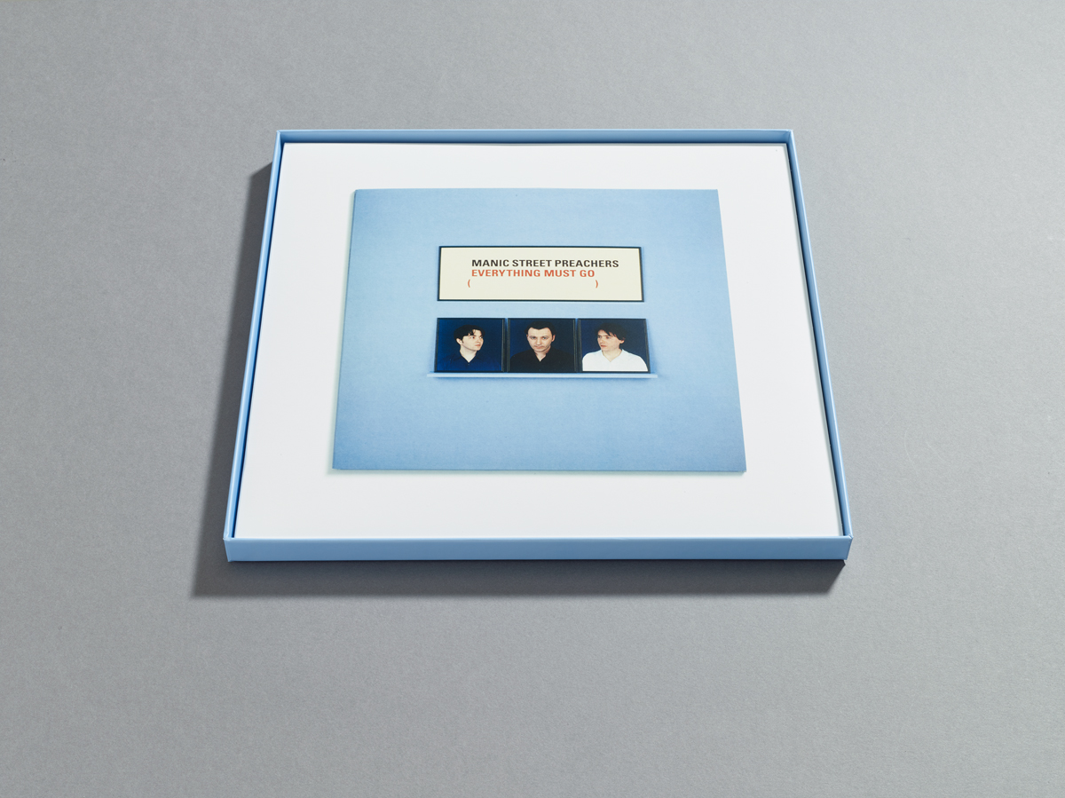 Manic Street Preachers, Everything Must Go 20th Anniversary box set, showing vinyl cover in box. Designed by Farrow