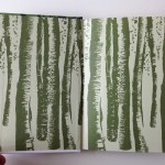 Endpapers of the new edition of John Clare's poems in the Faber Nature Poets series by Andy Lovell