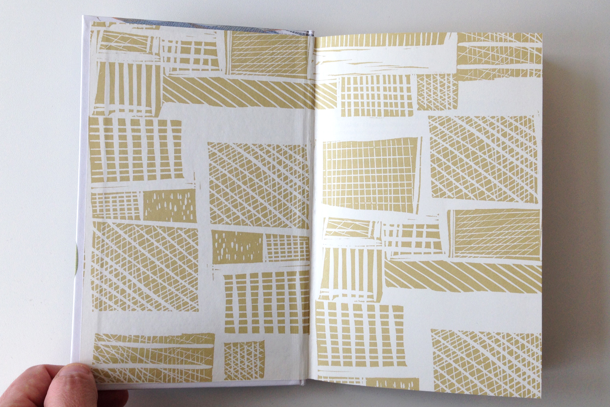 Endpapers of the new edition of John Keats' poems in the Faber Nature Poets series by Angela Harding