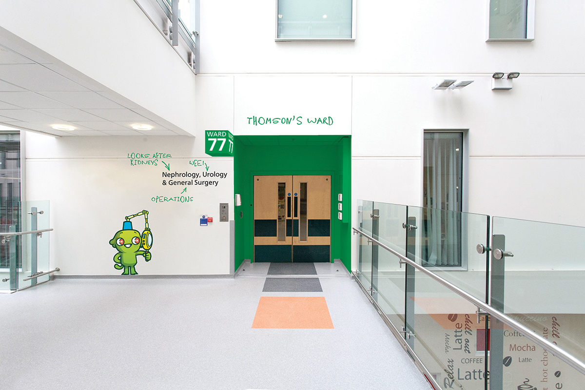 Hemisphere_RMCH_Ward 77 entrance_5422_Visual