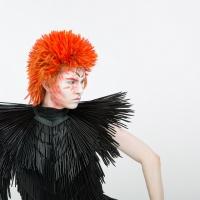 Image: work by Saffron Bramley-Astle, BA (Hons) Costume Design and Making. Photo by Sydnie Reynolds, model Jack Wardlaw.