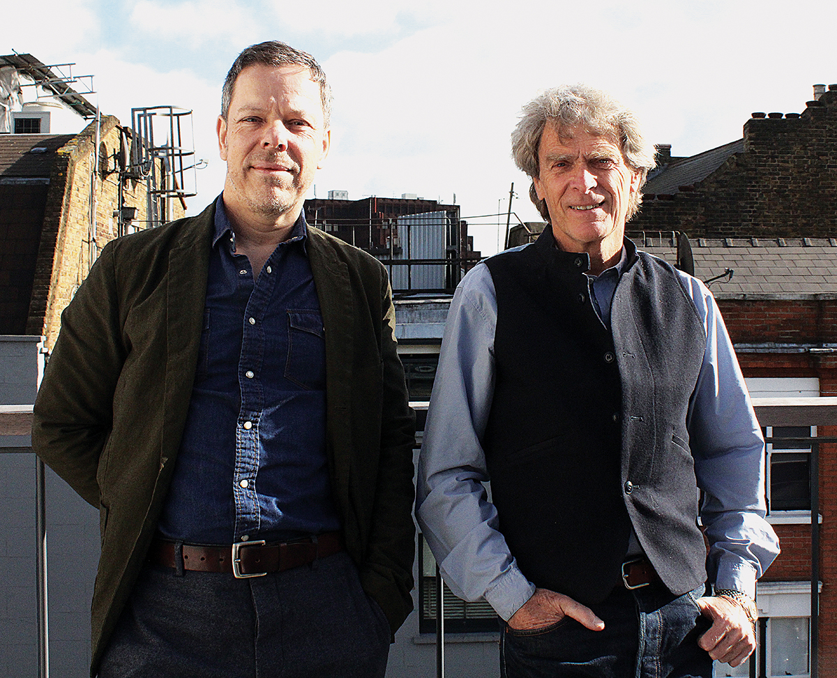 Photo of SohoCreate CEO Tom Harvey and chair Sir John Hegarty