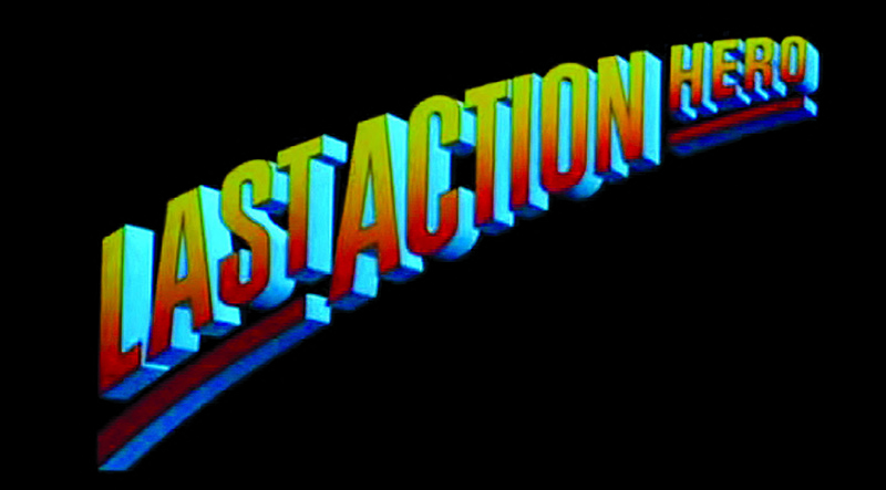 The trailer to Last Action Hero (1993) in which, with the help of a magic ticket, a young film fan is transported into the world of his favourite film character