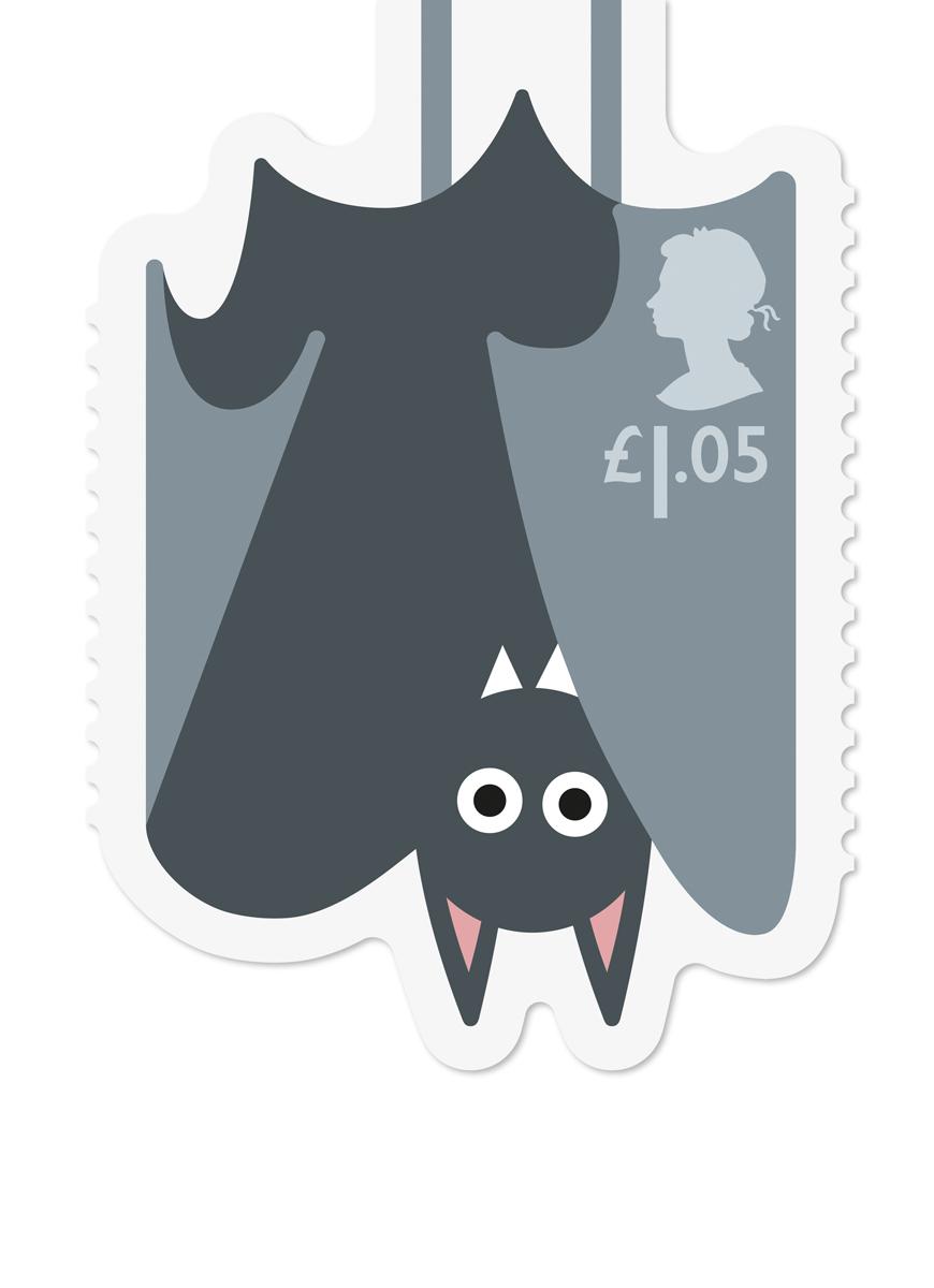 Royal Mail Animail Bat stamp