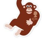 Royal Mail Animail Chimp stamp