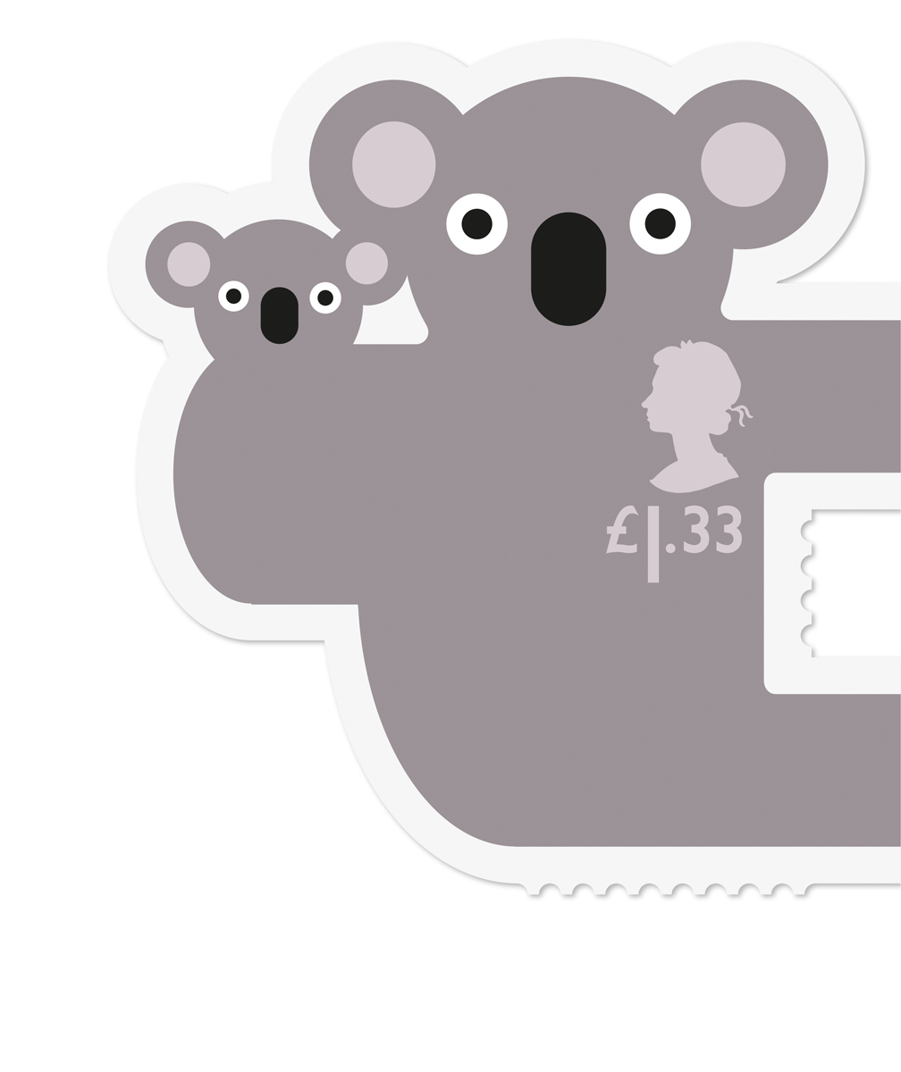 Royal Mail Animail Koala stamp