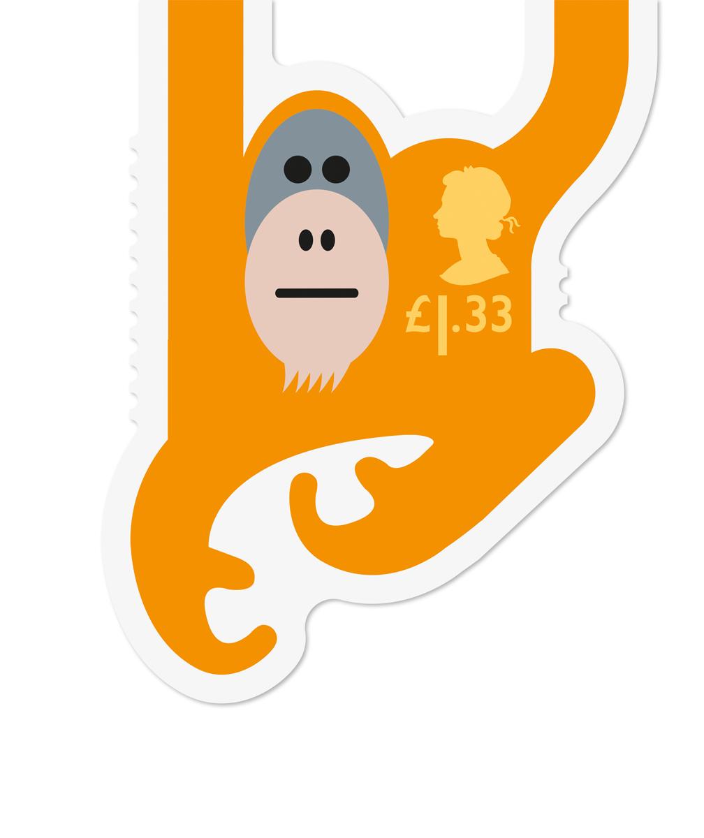 Royal Mail Orangutan stamp
