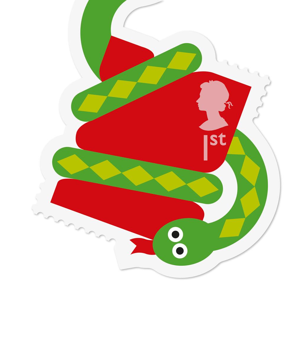 Royal Mail Animail Snake stamp