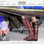 Hunter's new website, designed in-house