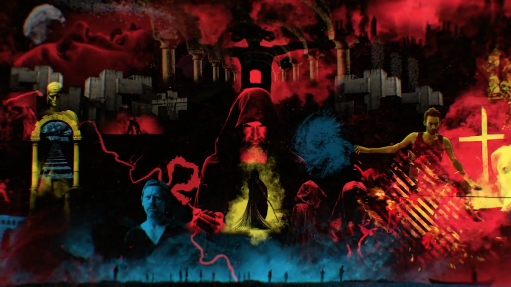 Motion graphics for Map of Hell, a National Geographic show which charts the evolution of our ideas about the underworld. Animated sequences were created using a mix of live action footage and composited animation and have a slightly psychedelic feel