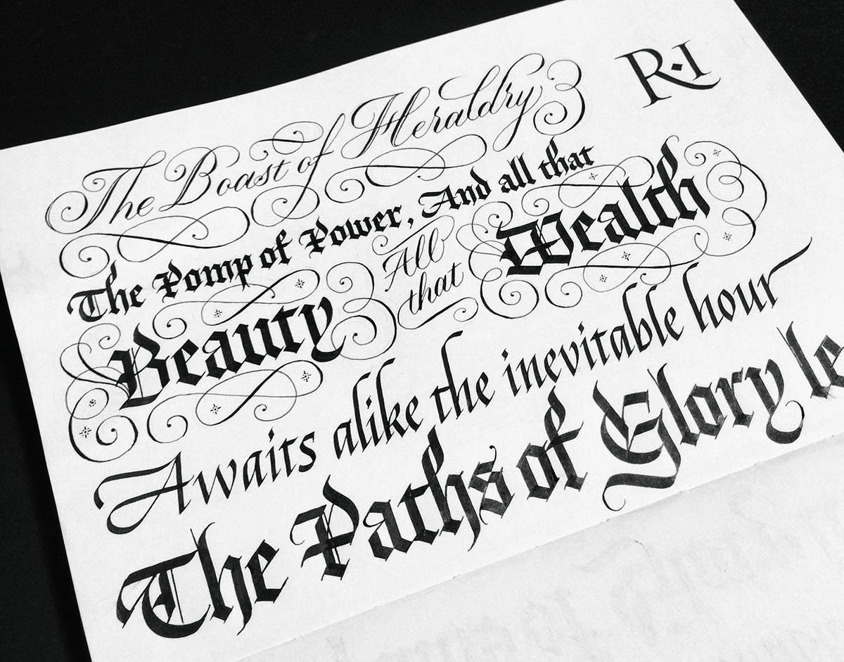 Seb Lester, calligraphy and social media