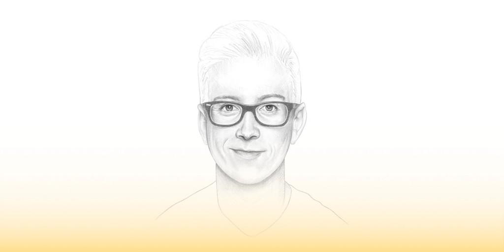 An illustration of youtuber tyler oakley by Denise Nestor