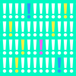 Colourful graphic exclamation mark design