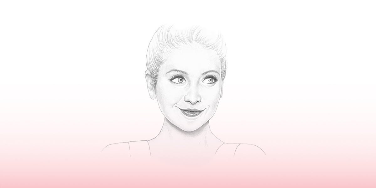 An illustration of youtuber Zoella by Denise Nestor