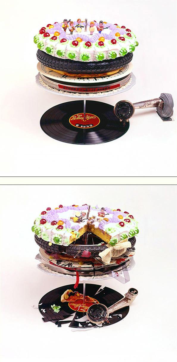 Robert Brownjohn artwork for the Rolling Stones' Let It Bleed album