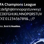 The font for UEFA Champion's League, created by Fontsmith