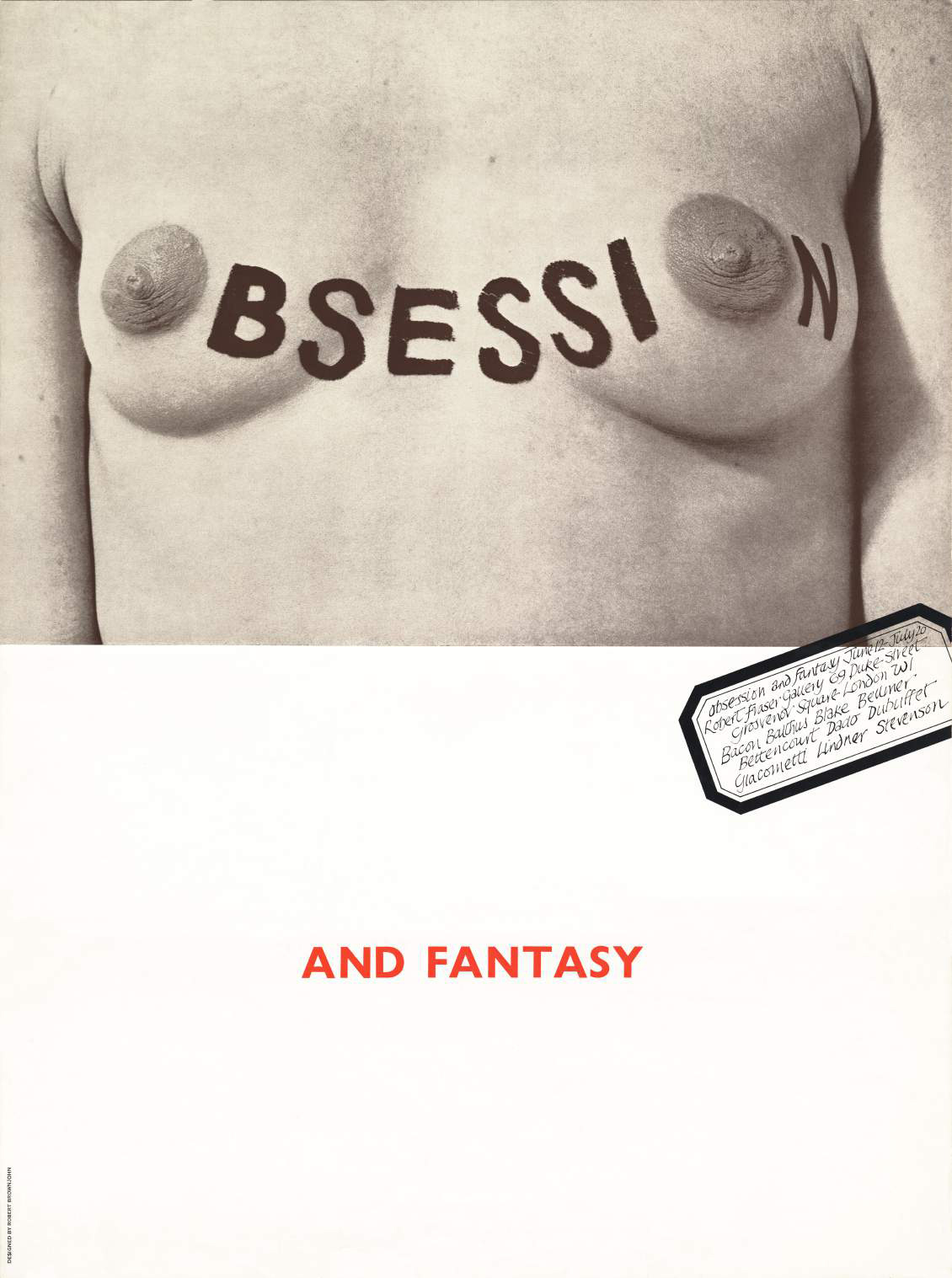 Robert Brownjohn Obsession and Fantasy poster