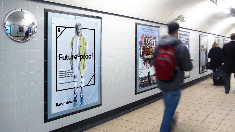 Mock-up of Ravensbourne tube poster