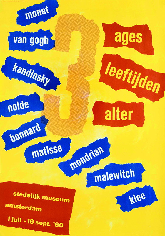 Ages, poster, 1960, courtesy of the Stedelijk Museum, Amsterdam