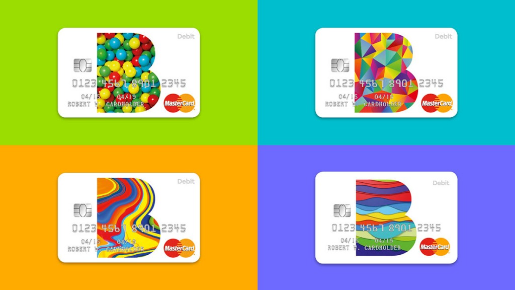 B cards, designed by The Partners