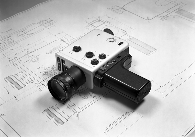 Braun Nizo 561 camera and drawings