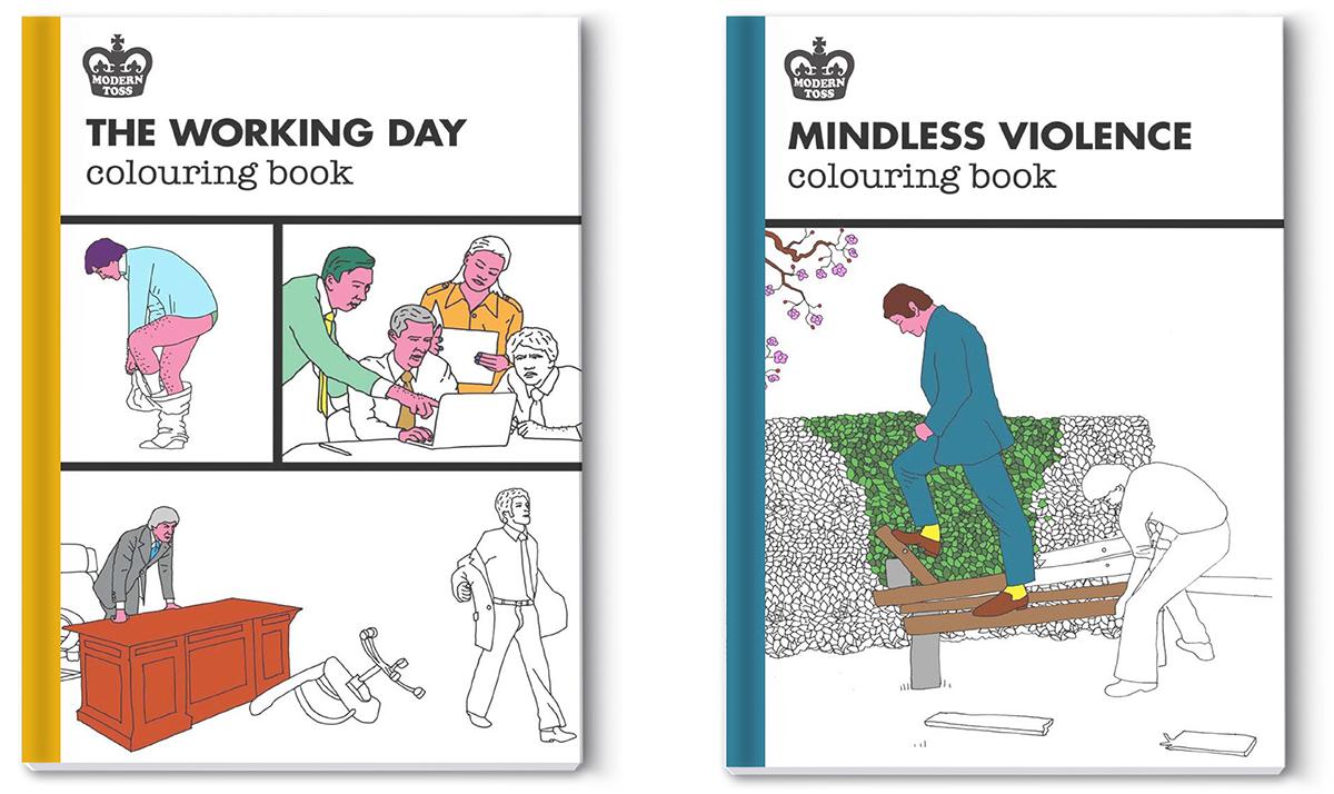 Modern Toss Colouring Books