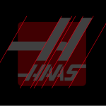 Founding company Haas Automation's 30˚ angled logo