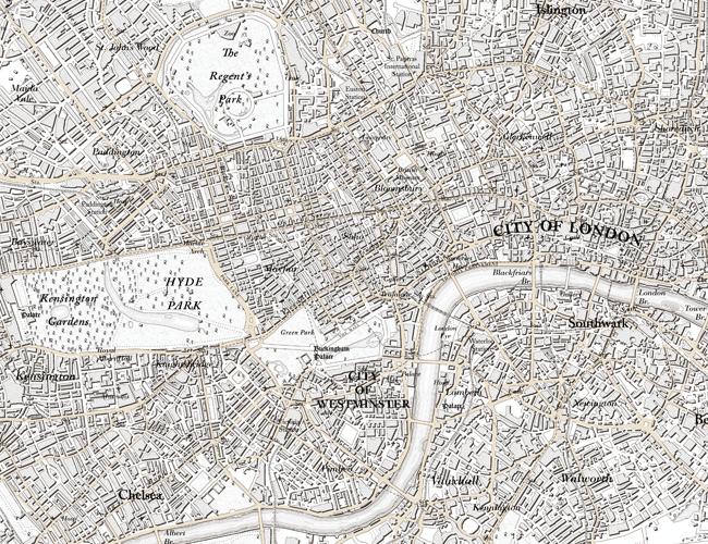 Ordnance Survey maps London, 1801-style