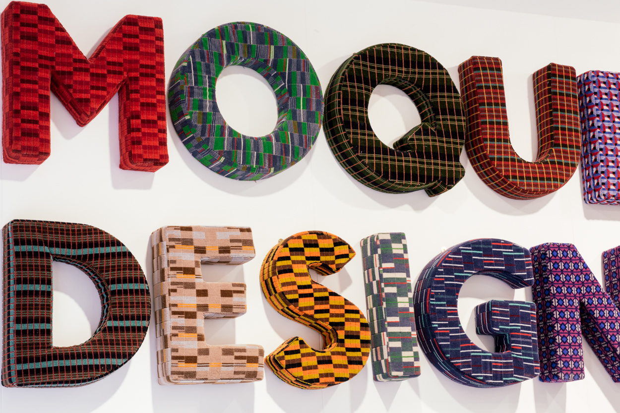 Letters showing patterned fabrics used on London's Tubes, buses and Overground trains