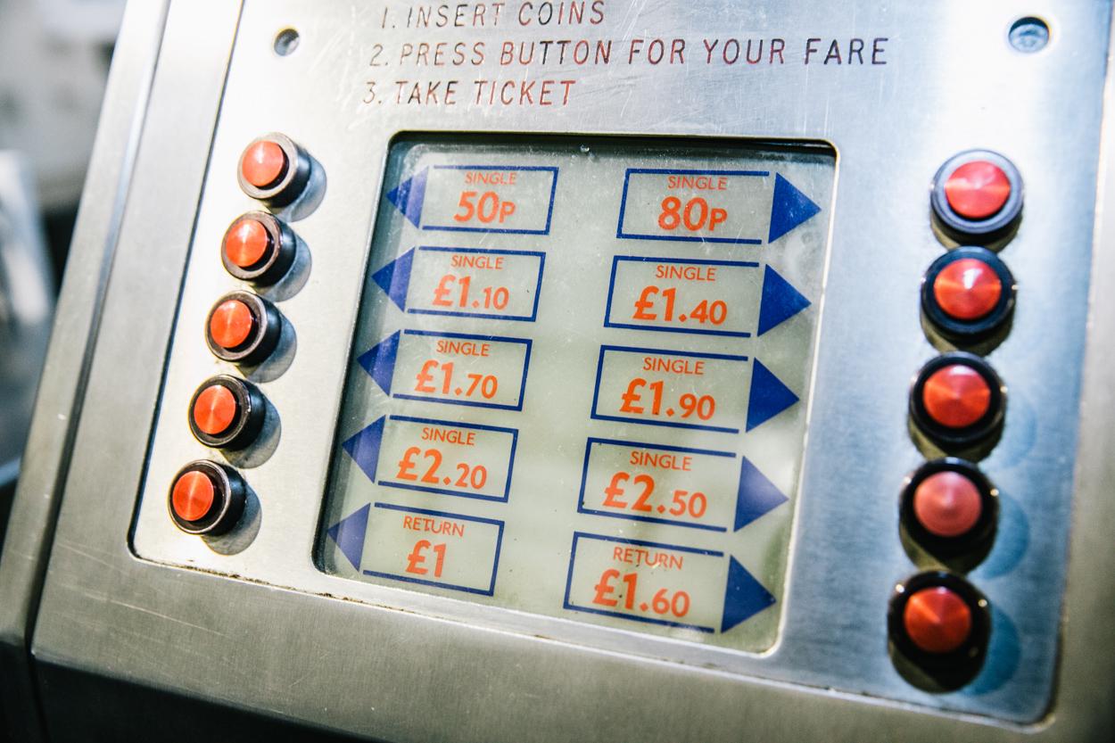 1970s London Underground ticket machine from London Transport Museum's Desingology exhibition