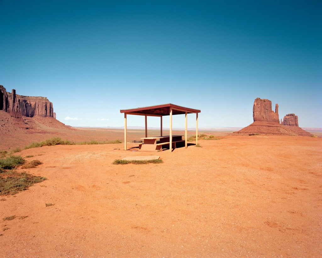 Rest stop at Monument Valley Arizona, from The Last Stop: Vanishing Rest Stops of the American Roadside, by Ryann Ford