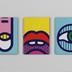 Psychedelic illustrations by Craig & Karl for a set of notebooks created for Edinburgh International Book Festival