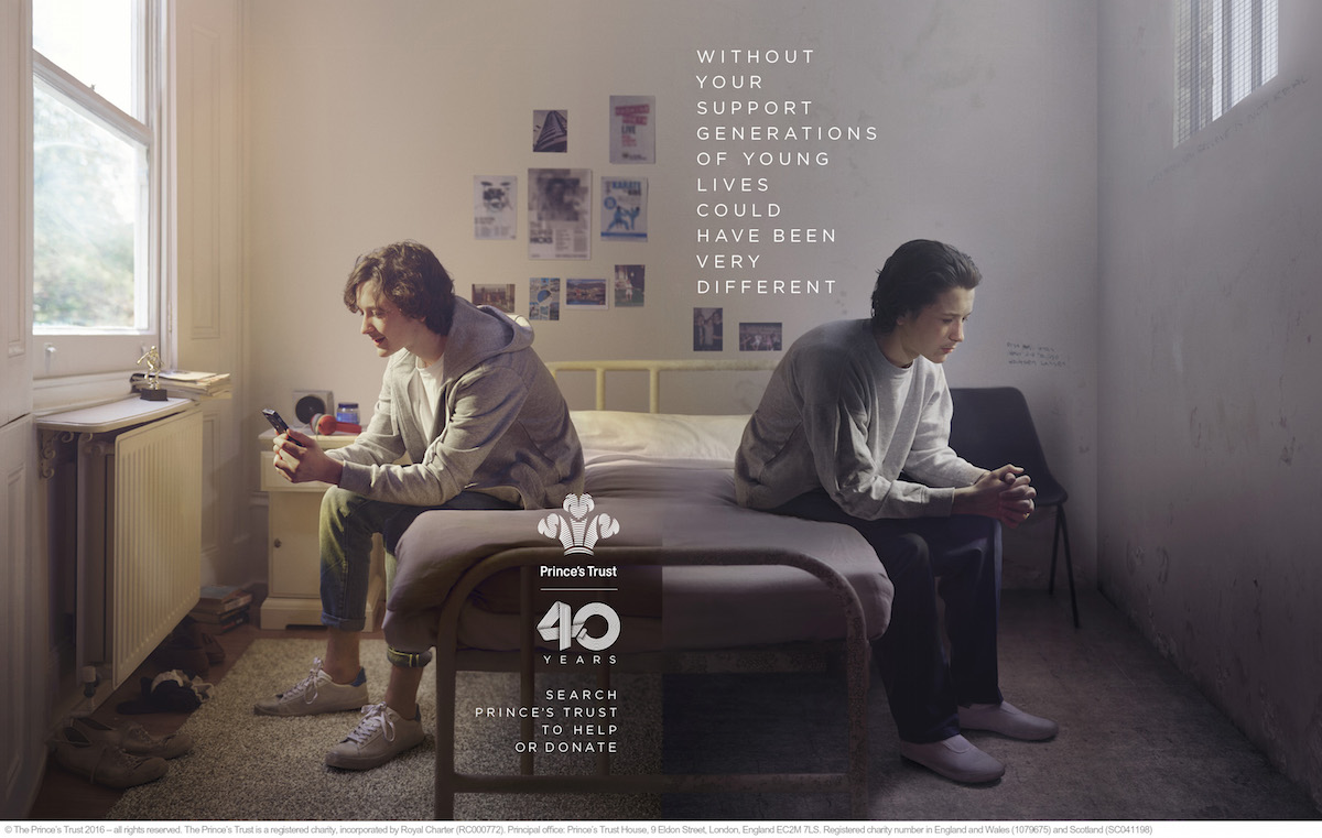Prince's Trust 40 years print ad