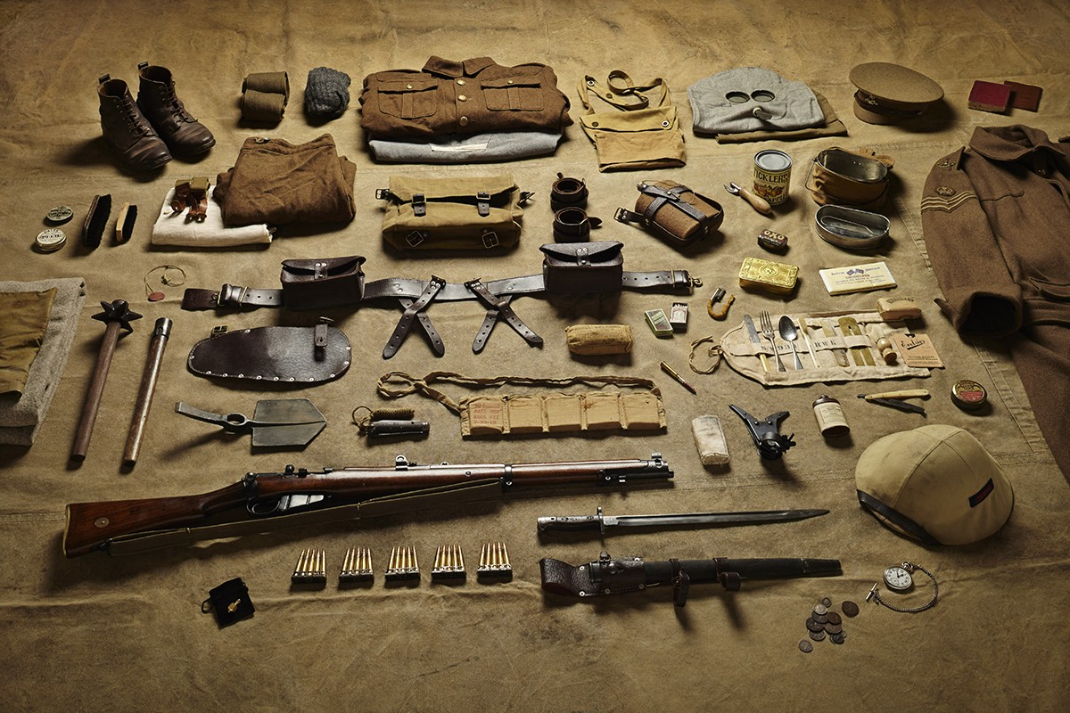 First World War soldiers' inventories photographed by Thom Atkinson
