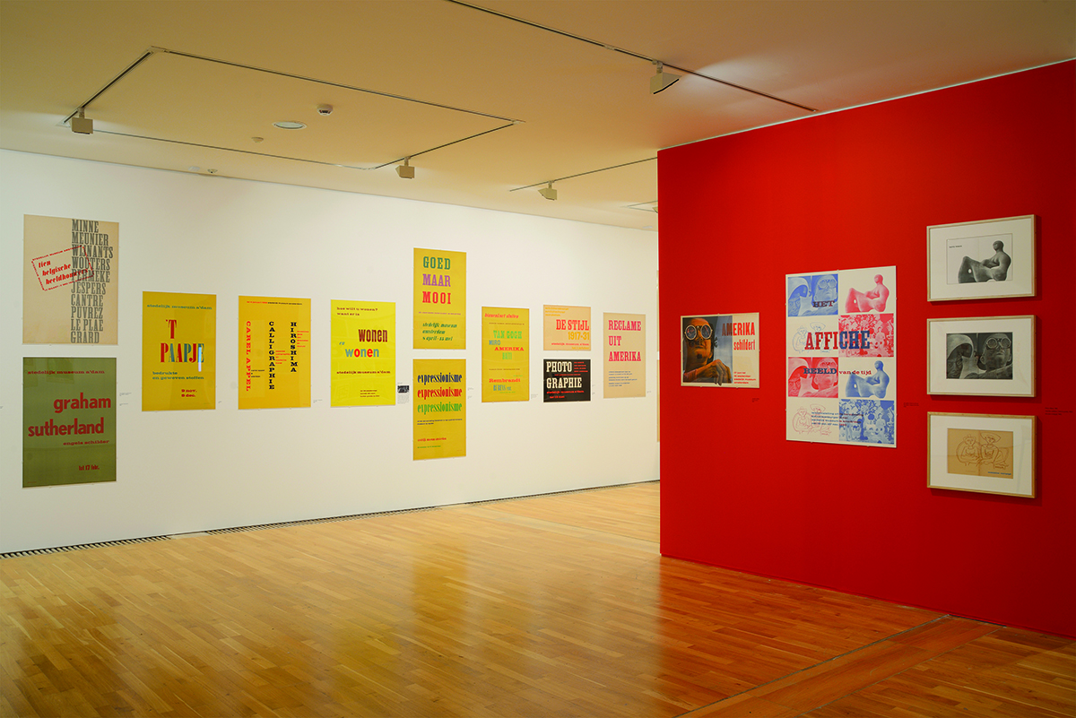 Exhibition posters created by Sandberg for the Stedelijk Museum