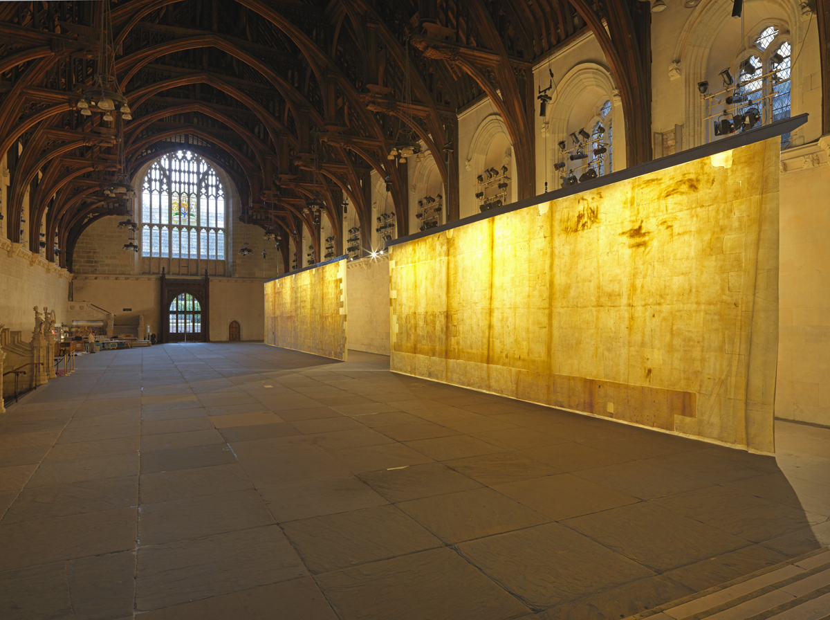 The Ethics of Dust installation as seen in Westminster hall, London. Photography: Houses of Parliament