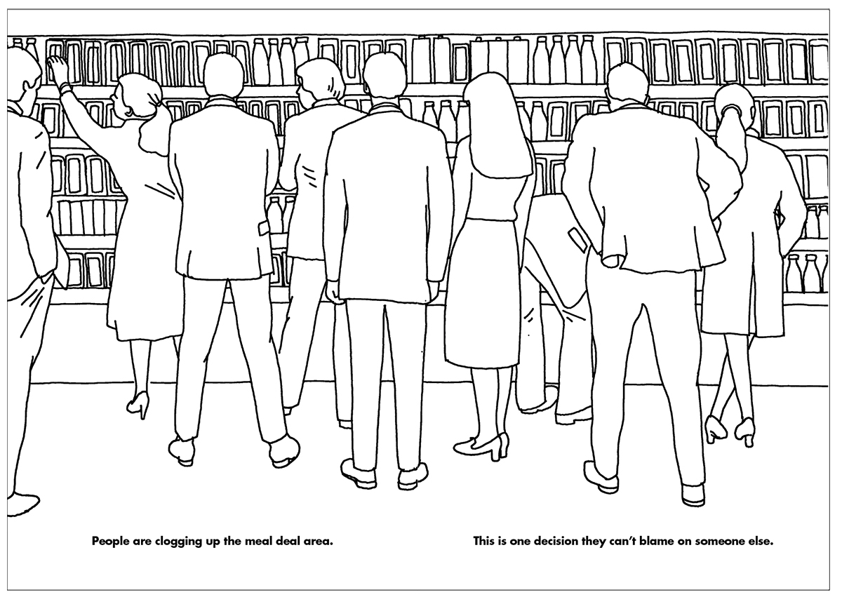 From The Working Day Colouring Book by Modern Toss