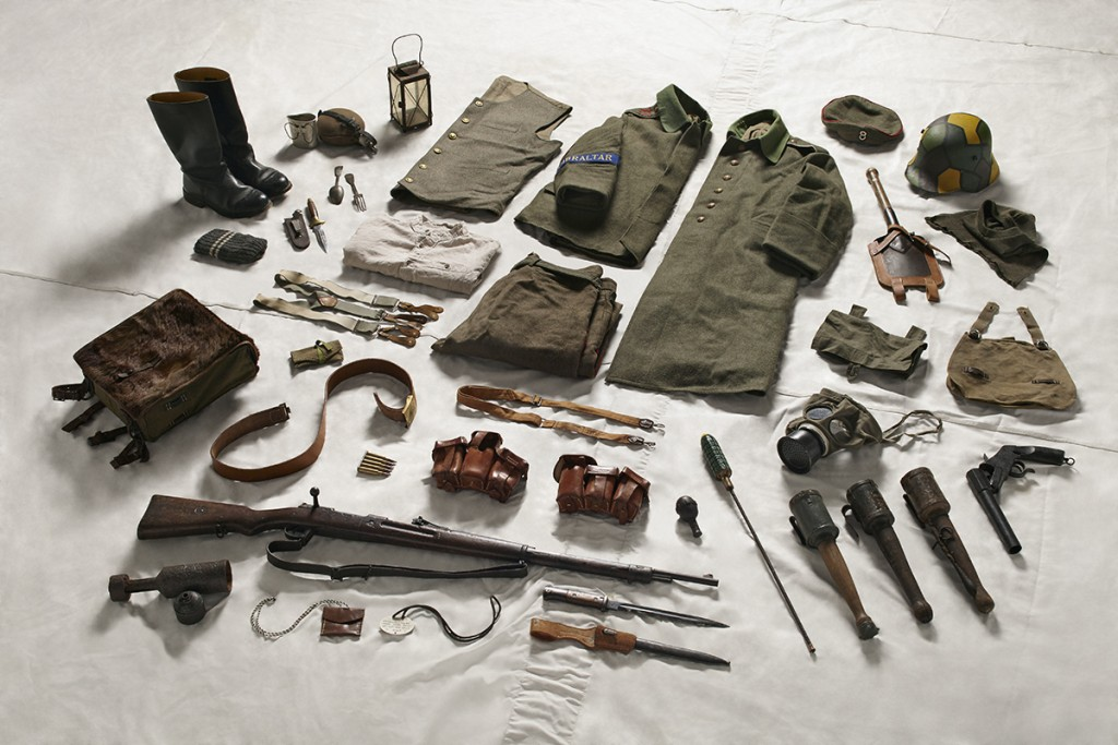 Equipment collection provided by: Paul Bristow, Croix de Guerre Living History Group (Part of C20)