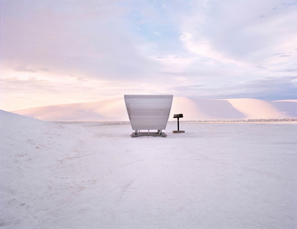 Rest stop at White Sands National Monument, New Mexico from The Last Stop: Vanishing Rest Stops of the American Roadside, by Ryann Ford